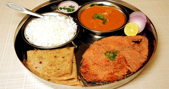Fish Thali in Goa, India
