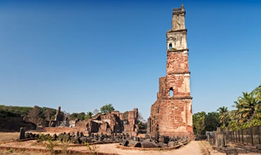 ruins of st augustine Goa India